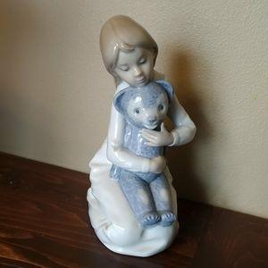 Lladro Nao Girl with Teddy Bear